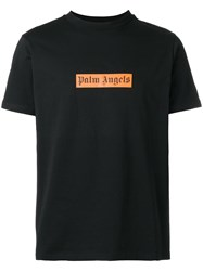 Palm Angels Logo Print Boxy T Shirt Black