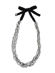 Maria Calderara Long Necklace White