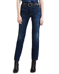 Levi's Premium Wedgie Icon Fit High Rise Skinny Jeans Blue
