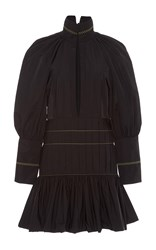 Ellery Skyward Bubble Sleeve Mini Dress Black