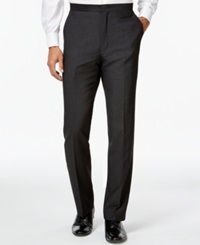 Ryan Seacrest Distinction Slim Fit Gray Textured Tuxedo Pants Only At Macy's Charcoal