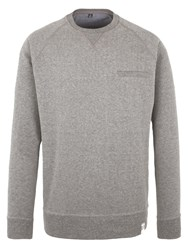 Racing Green Batchelor Pocket Detail Sweatshirt Charcoal