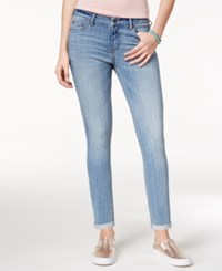 Celebrity Pink Juniors' Cuffed Skinny Ankle Jeans Taurus