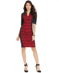 Connected Textured Panel Colorblock Sheath