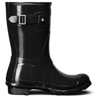 Hunter Women's Original Short Gloss Wellington Boots Black