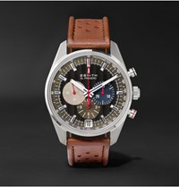 Zenith El Primero 36 000 Vph Classic Cars 42Mm Stainless Steel And Leather Watch Brown