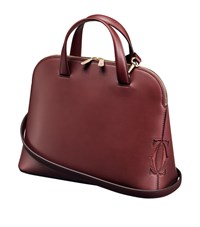 Cartier Small Must C Leather Tote Bag Red