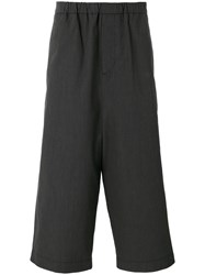 Societe Anonyme Strong Hackney Pinstriped Cropped Trousers Unisex Cotton S Grey