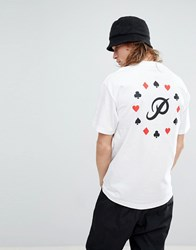 Primitive Ace T Shirt With Back Print White