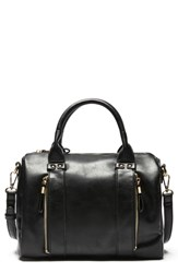 Sole Society Zypa Faux Leather Barrel Satchel Black