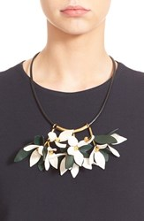 Women's Marni Floral Calfskin Leather Necklace