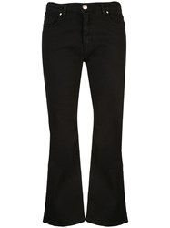 Federica Tosi Cropped Slit Trousers Black