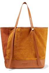 See By Chloe Andy Leather Trimmed Two Tone Suede Tote Tan