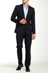 Ben Sherman Camden Super Slim Fit Wool Suit Blue
