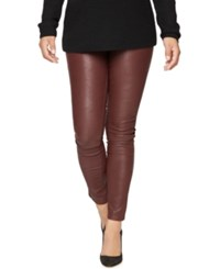 Blank Nyc Maternity Coated Skinny Jeans Burgundy Wash