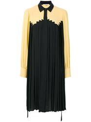 Marco De Vincenzo Pleated Midi Dress Polyester Black