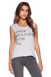 Chaser Love And Rock N Roll Tee Gray