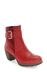 Wolky Women's 'Pristina' Boot Red Mighty Leather