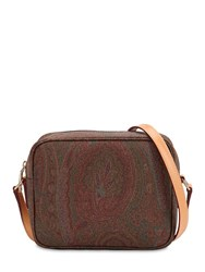 Etro Paisley Print Coated Cotton Camera Bag Multicolor