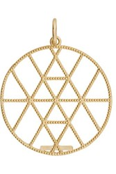 Grace Lee Geo Disc Gold Pendant One Size