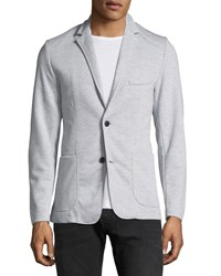 Civil Society Two Button Knit Blazer Gray