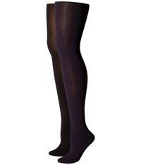 Hue Heat Temp Tights 2 Pack Navy Black Hose Blue
