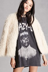 Forever 21 Eazy E Lace Up Back Tee Black