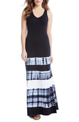 Karen Kane Women's Tie Dye Stripe Maxi Dress