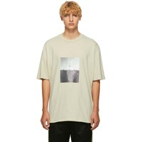 Song For The Mute Beige 'Plastic' Oversized T Shirt