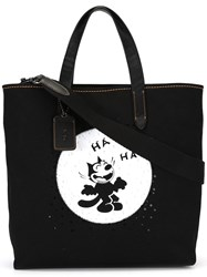 Coach 'Felix Laughing' Tote Black
