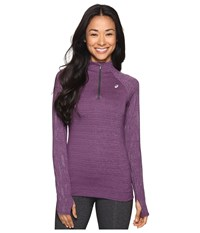 Asics Lite Show 1 2 Zip Top Orchid Heather Women's Long Sleeve Pullover Red