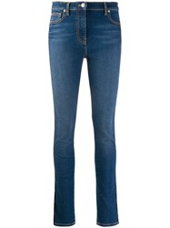 Kenzo Embroidered Side Panel Skinny Jeans Blue