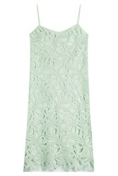 Rochas Embroidered Cotton Dress Green