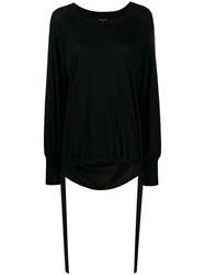 Ann Demeulemeester Oversized Knit Sweater Black