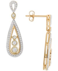 Wrapped In Love Diamond Teardrop Drop Earrings 1 2 Ct. T.W. 14K Gold Yellow Gold