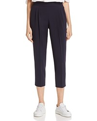 Dylan Gray Pleated Crepe Crop Pants 100 Exclusive Navy