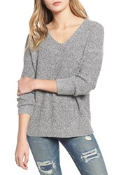 Dreamers By Debut Marled V Neck Sweater Grey
