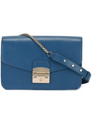 Furla 'Metropolis' Satchel Bag Blue