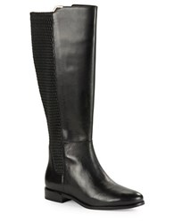 Cole Haan Rockland Textured Riding Boots Black