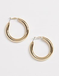 Monki Chunky Hoop Earrings In Gold