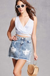 Forever 21 Pixie And Diamond Denim Skirt Denim Washed