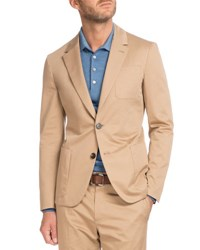 Berluti Cotton Two Button Blazer Tan