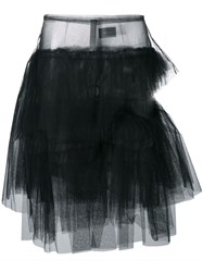 Simone Rocha Tiered Tulle Skirt Black