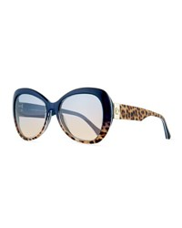 Roberto Cavalli Degrade Leopard Print Sunglasses Brown