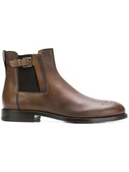 Tod's Buckle Detail Chelsea Boots Brown