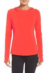 Zella Women's Technique Hooded Pullover Red Solar