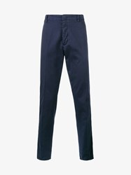 Valentino Beaded Tapered Trousers Blue
