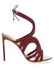 Francesco Russo Braided Leather Sandals Red