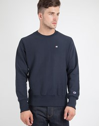 Champion Reverse Weave Crew Neck Sweatshirt Navy