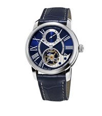 Frederique Constant Manufacture Heart Beat Automatic Watch Unisex Silver